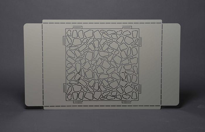 cache-clim-gris-motif
